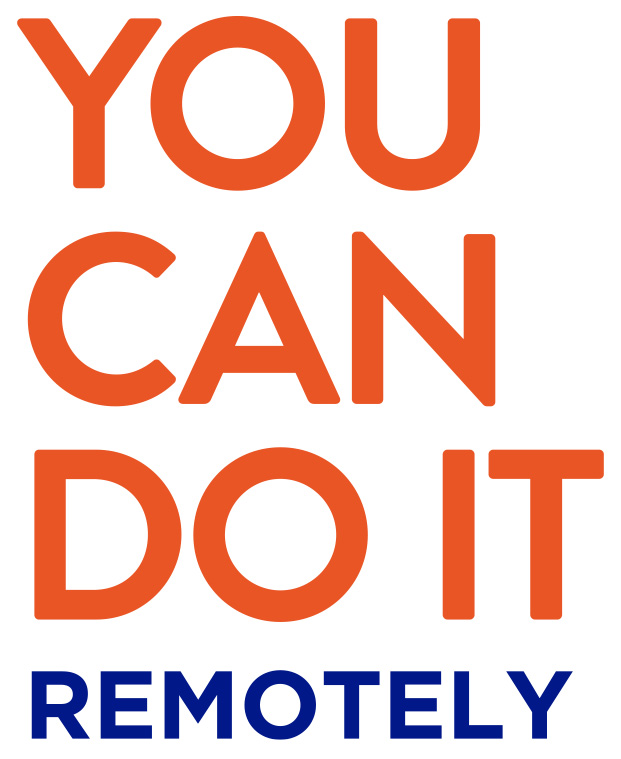 You can do it remotely